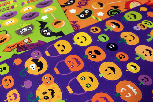 Candy Free Halloween Stickers - Ideas For A Candy Free Halloween